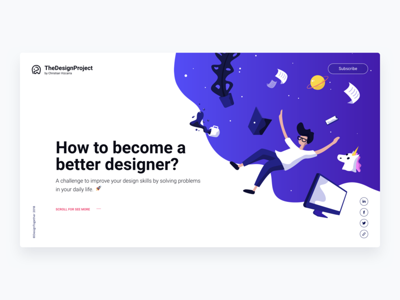 The Design Project - Personal Challenge is live! clean ux designer startup illustration clean design product design website landing page user experience user interface the design project concept app concept web interface design interaction design ux ui design ux design ui  ux ui