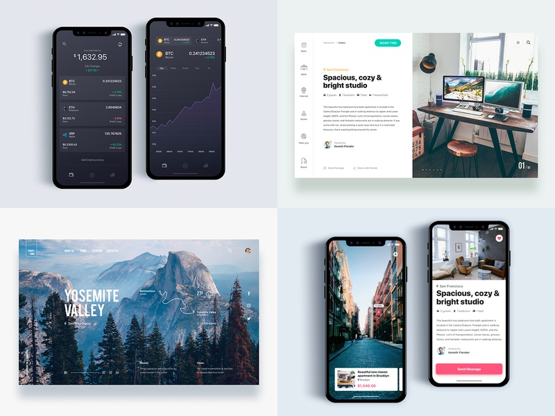 2018 Top4 Work uxui mobile typography clean web web design ios interaction design design ui design interface 2018 trends 2018 app ux design user interface ux user experience ui