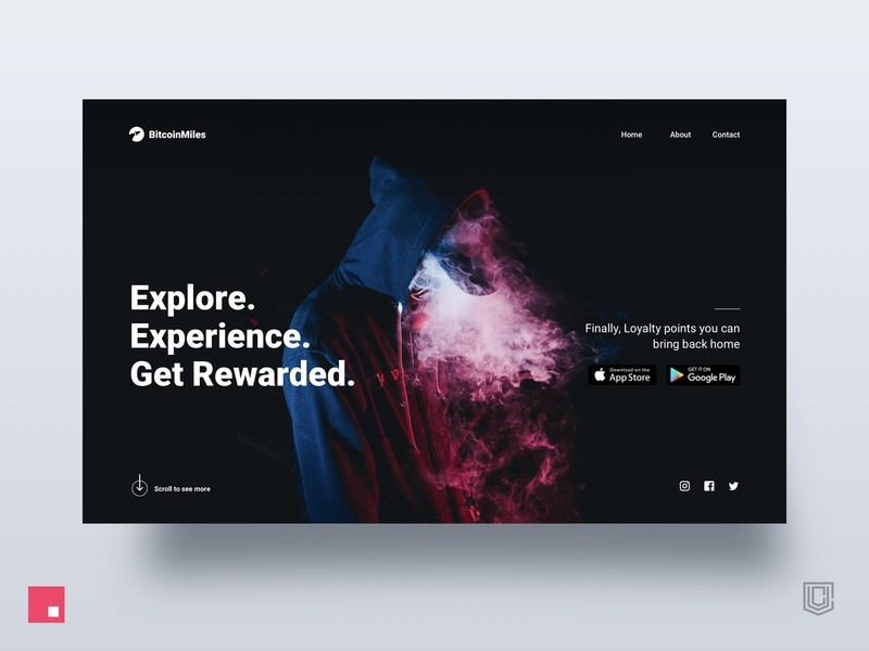 Dark Landing Page Rewards Experience invision studio invision ui app photography web clean ui design design user experience interaction design startup website landing page ux ui