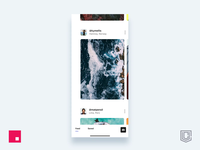 Photography social app animation