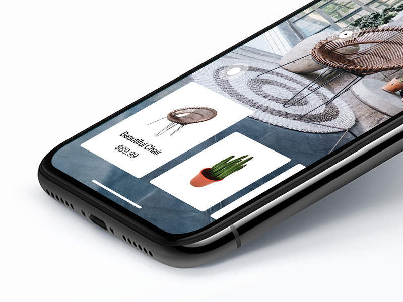 Furniture Ecommerce App Concept simple fullscreen furniture ios clean interface user experience user interface iphonex app interaction invision studio unsplash card design cards ui cards ui ux design ux ui design