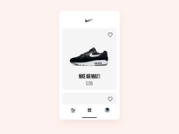 Nike Store app concept - cards shoes cleaning button microinteraction interaction animation motion clean cards ui ecommerce user experience user interface ui ux invision studio invision concept cards store nike