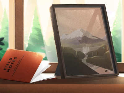 Morning Vibes lighting nightstand down the street designs forest woods cabin field notes desk pnw