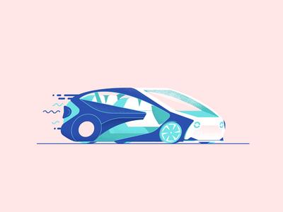 Autonomous Concept i toyota down the street designs illustration tech future drive van car self driving autonomous