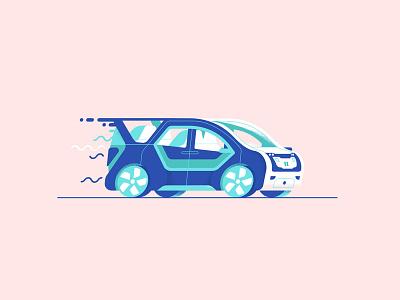 Autonomous Portal chrysler down the street designs illustration tech future drive van car self driving autonomous