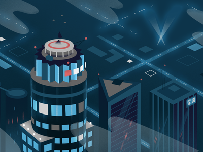 Skyline graphic down the street dts designs dts technology tech design dtla future illustration