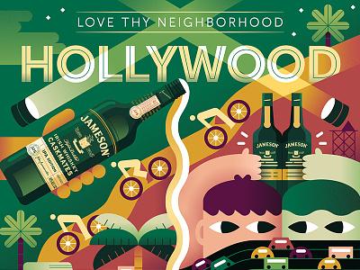 Jameson: Love Thy Neighborhood (2) los angeles painting geometric down the street designs down the street dts color illustration mural jameson
