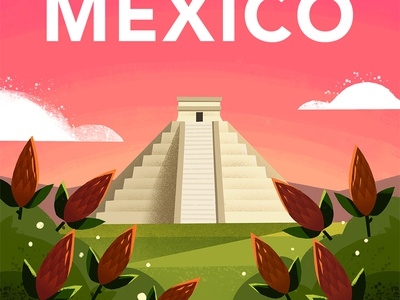 Mexico down the street procreate lighting perspective llama mexico pro create illustration coffee