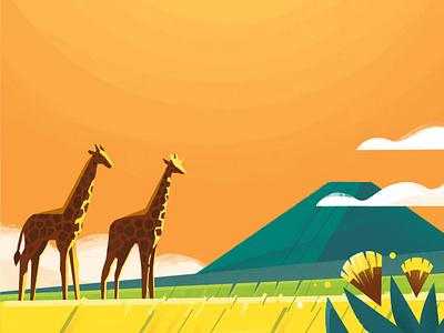 CBTL: Tanzania octane cinema 4d set design set hills orange landscape illustration pro create coffee coffee bean tanzania