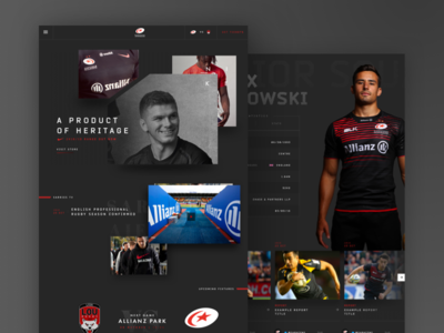 Saracens Website Redesign