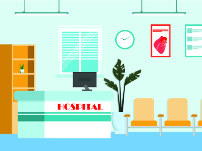 Hospital illustration vector