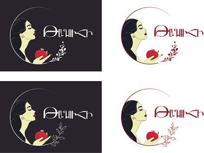 Queen logo design illustration vector
