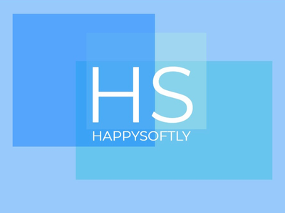 HappySoftly company color design designer logo