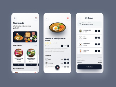 Warmindo Food  App Concept minimalist clean art ios food illustration uiux shop delivery app food and drink delivery food food food app design mobile minimal ux ui app