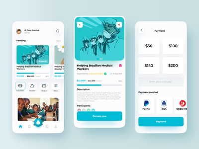 Donation and Charity App ios app design minimalism minimalist volunteer uiuxdesign charity event charity app charity donation app donate donation ios clean mobile design ui minimal app ui design ux