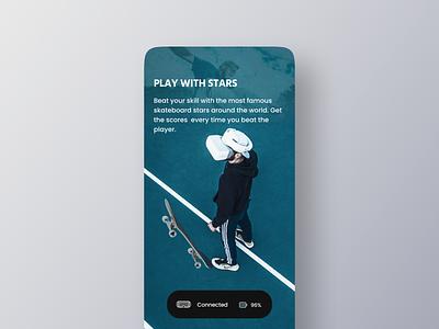 VR Skateboard Game App uiuxdesign minimal ios app app design mobile app mobile ui ui ar play sport skateboard game uiux clean app mobile