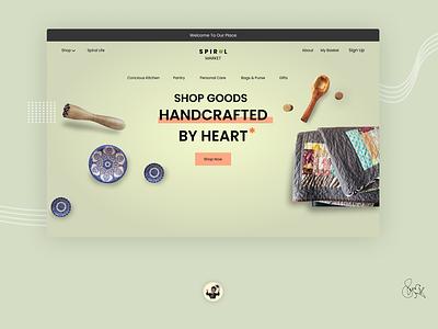 Spiral market web landing page ui website landing page web ui uiux ux ui typography minimal design art branding logo graphic design