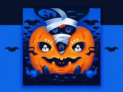 Halloween spook cat cloud heart tombstone bat eyes mummy pumpkin halloween