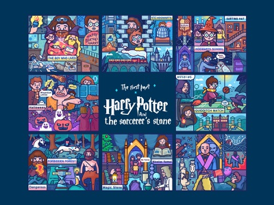 Harry Potter Sorcerer's Stone stone noodles line game harry potter first story collection
