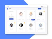 iTx Team team profiles cards dashboard