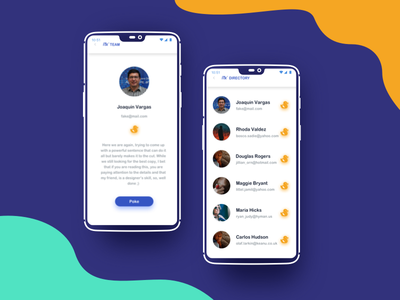 Profile detail and list iphone x ui