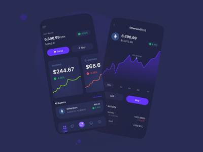 Crypto Wallet Application uxdaily uidaily asset crypto design ux ui cryptocurency app eth nft btc wallet crypto