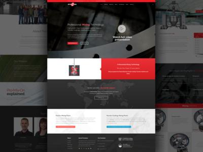 Industrian Mixing Company | New Website mixers mixing webdesign concept design web website