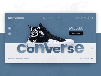 Converse online store design ui