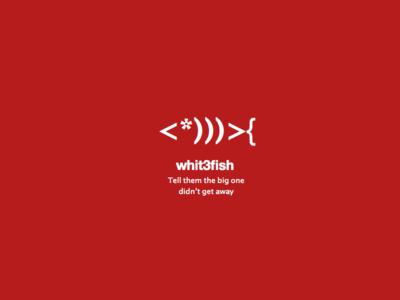 Logo whit3fish design technology code material simple logo fish