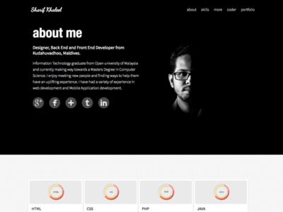 Portfolio Website V2 design flat website portfolio