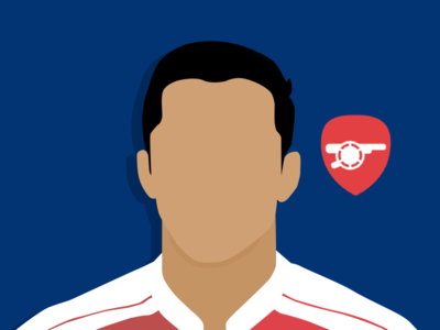Alexis Sánchez arsenal player football graphics material whit3hawks flat design