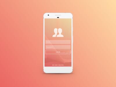 Login Concept flat design material design android login concept