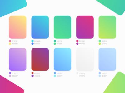 Flat UI Gradient Colors Palette material flat ui palette color gradient