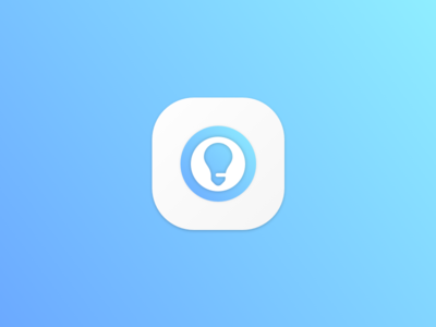 Bulb Icon gradient icon bulb