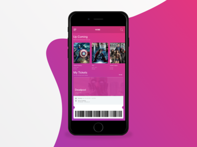 Movie Ticketing Application material flat application apple ios