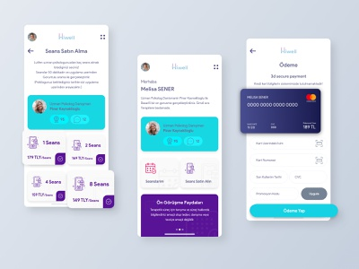 Hiwell App flat design dashboard ios mobile interface app application design ux ui