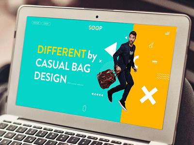 Responsive Web Site geomectric bag design sign in menu rotator slider button color ui web site responsive