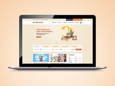 ING Bank - Web Design  button web design ui ux responsive dashboard landing page web credit card bank flat design web site