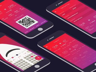 Flight App design branding book checkin iphone ux ui user interface clean application ios flight