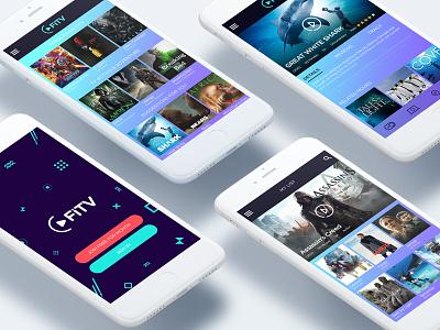 FiTV  logo webdesign design iphone ux ui application mobile app dashboard tv