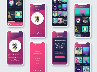 Radyoland IOS Application application app apple interaction web ux ui playlist music player radio ios
