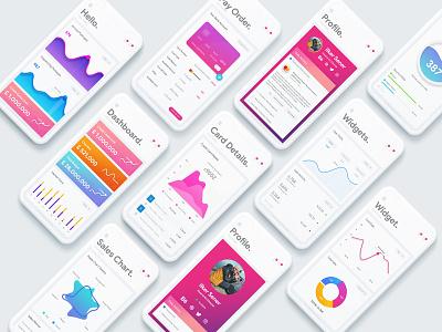 Duckboard Mobile Dashboard App widget pay order credit app. ios. dashboard design interface ux ui data chart mobile application