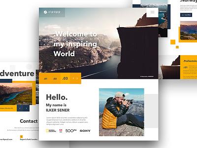 Zipapp Portfolio Landing page responsive portfolio landing page web design web app design interface ux ui mobile