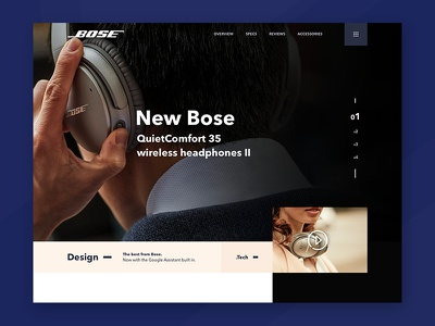 Bose Redesign web design web ios app design interface ux ui mobile redesign landing