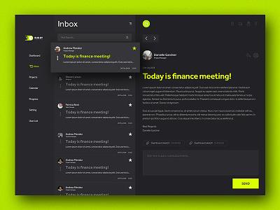 Rubby Dashboard icon cms crm inbox button web design task flow mail box flat design dashboard web interface app design application ux ui