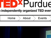 Tedxpurdueu   Navigation Design