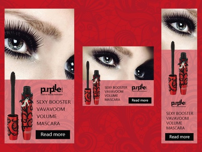 Banners for a company that produces cosmetics ads banner ad ads design web design design photoshop banner ads webdesign ads banner adobe photoshop