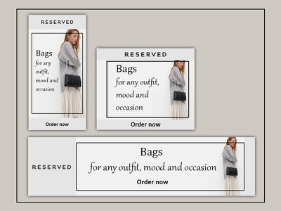 Set of banners for shop selling bags ads banner ads web design webdesign design banner ads design ads banner banner ad adobe photoshop