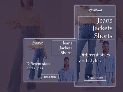 Jeans store banner set banner design photoshop banner ads web design ads design ads ads banner banner ad adobe photoshop