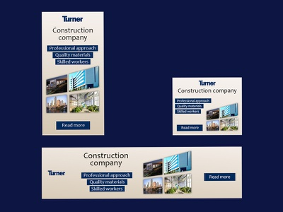 Construction company banner set design photoshop banner web design ads banner banner ads ads design ads banner ad adobe photoshop